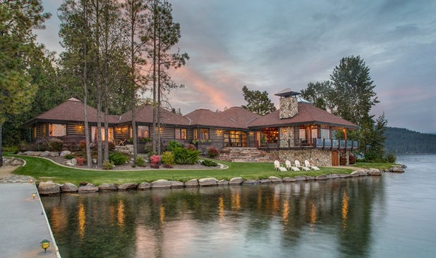Rustic Exterior Houzz Tour: Local Idaho Flavor Balances Rustic and Luxe