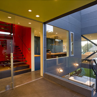 Example of a trendy two-story exterior home design in Los Angeles