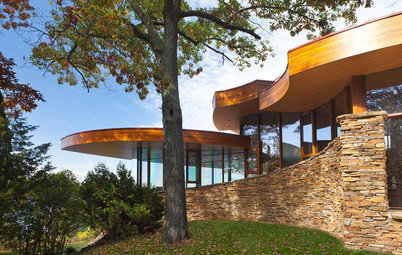Houzz Tour: Stunning Curved Architecture Rises Among the Trees