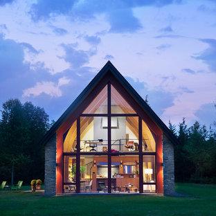 Contemporary two-story exterior home idea in Boston