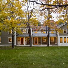 Farmhouse Exterior by JAMES DIXON ARCHITECT PC