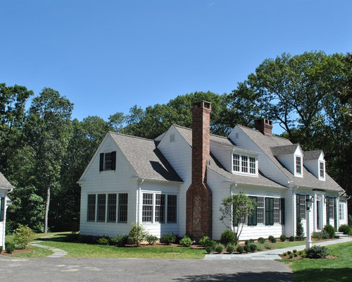 White cape cod with dormers home design ideas pictures for Cape cod dormer cost
