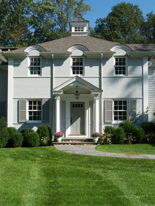 Gray Exterior White Trim Black Shutters Home Design Ideas Pictures Remodel And Decor