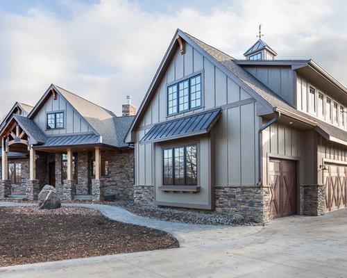 Modern farmhouse - Rustic modern farmhouse exterior ...