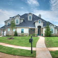 Transitional Exterior by Jaggers Home Design