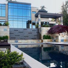 Contemporary Exterior by KrisCo Aquatech Pools & Spas