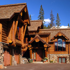 Traditional Exterior by Sitka Log Homes