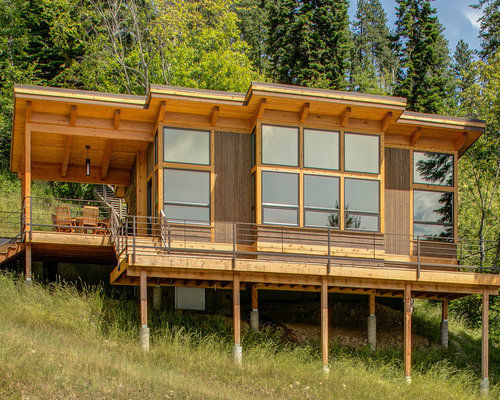 Astounding Best Small Cabin Design Ideas Remodel Pictures Houzz Largest Home Design Picture Inspirations Pitcheantrous