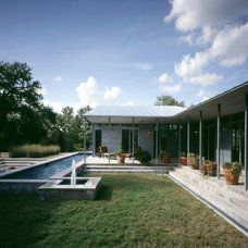 Midcentury Exterior by Webber + Studio, Architects