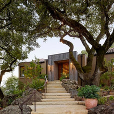Mediterranean Exterior by Ken Linsteadt Architects