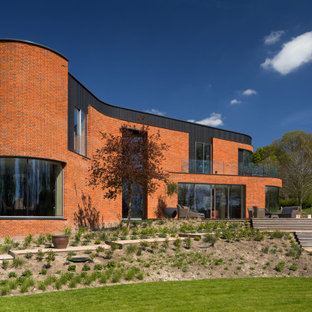 Design ideas for a modern house exterior in Oxfordshire.