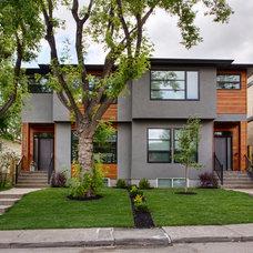 Contemporary Exterior by A|K Design & Development Inc.