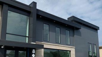 Interior and exterior showroom design