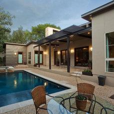 Contemporary Exterior by Adam Wilson Custom Homes