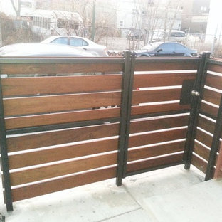 Iron & Wood Fence and Gate