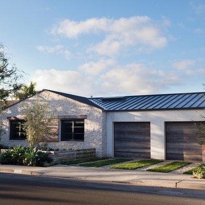 Contemporary mixed siding exterior home idea in Orange County