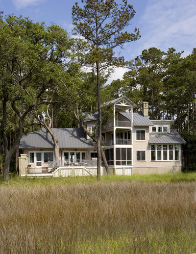 Beach Style Exterior by Frederick + Frederick Architects