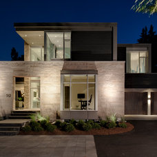 Contemporary Exterior by Barry J. Hobin and Associates Architects