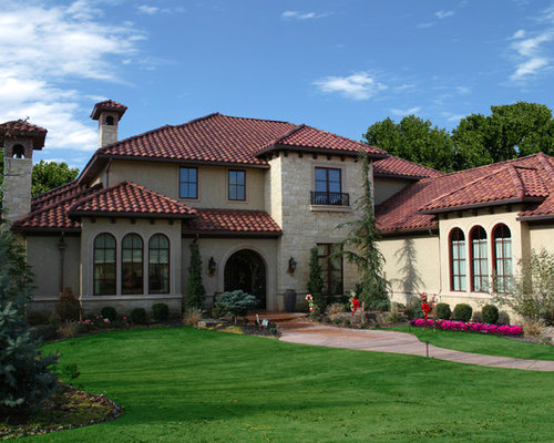 Mediterranean Oklahoma City Exterior Home Design Ideas