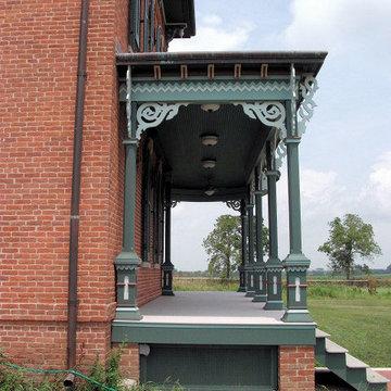 Italianate Historical Renovation  Front Porch