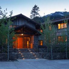 Rustic Exterior by Howells Architecture + Design, LLC