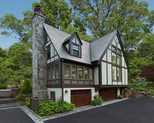 Victorian stucco exterior design ideas renovations photos for Victorian tudor suite