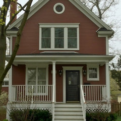 traditional exterior james hardie country lane red siding