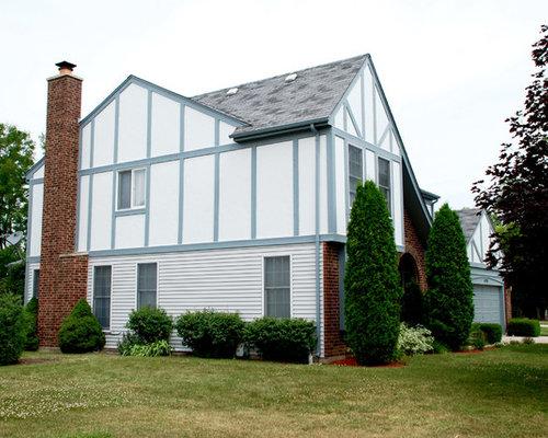 Scandinavian stucco exterior design ideas remodels photos for Scandinavian style homes exterior