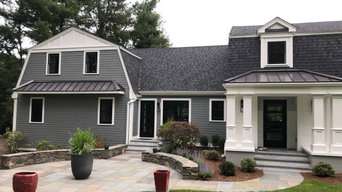 James Hardie Siding with Pella Windows and new deck