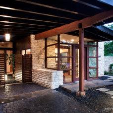 Midcentury Exterior by CG&S Design-Build