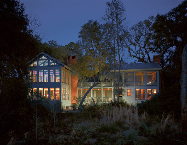 Transitional Exterior by Frederick + Frederick Architects