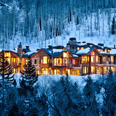 Rustic Exterior by Charles Cunniffe Architects Aspen