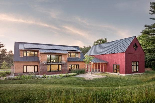 Farmhouse Exterior by Shelterwood Construction