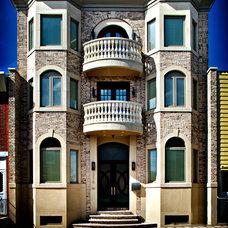 Transitional Exterior by Abitare Design Studio, LLC