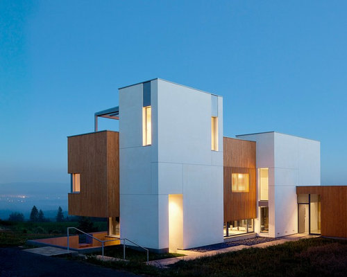 Modern small house architecture houzz for Motel exterior design