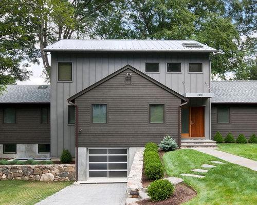 Best charcoal gray metal barn siding design ideas for Contemporary exterior siding ideas