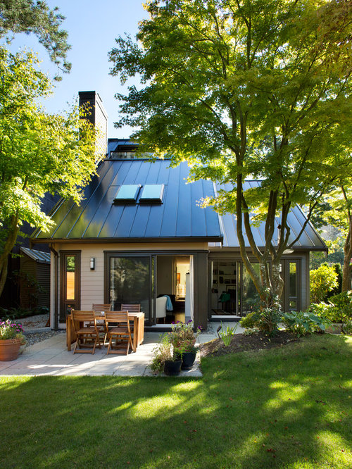 Metal roof skylight houzz for Updating 80s contemporary home exterior