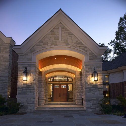 Best stone entrance design ideas remodel pictures houzz for Exterior entrance design
