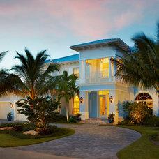 Tropical Exterior by Ocean Blue Custom Homes