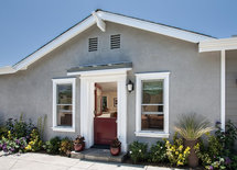 Hi, Gorgeous Remodel! What is the color of the stucco?  buy door? Thx!