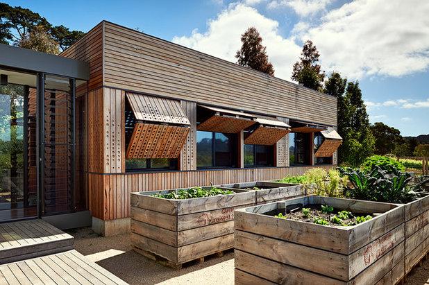 Australisch Familie Interieur : Platz für die familie erlesener anbau für ein australisches weingut