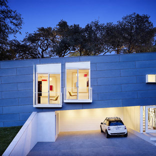 Trendy one-story exterior home photo in Austin