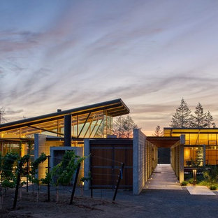 Example of a minimalist exterior home design in Other