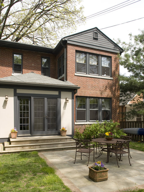 red brick and stucco houzz