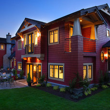 Traditional Exterior by Janis Gosbee Design Inc.