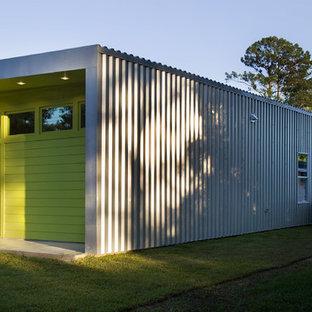 Foto della facciata di una casa contemporanea a un piano