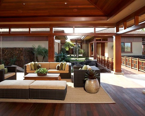 Asian style patio