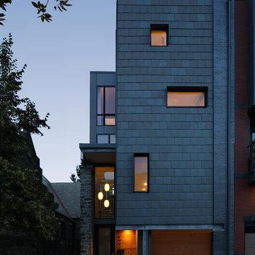 Kohn Residence - Street Facade - Dusk