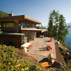 Lake House Contemporary Exterior Burlington By