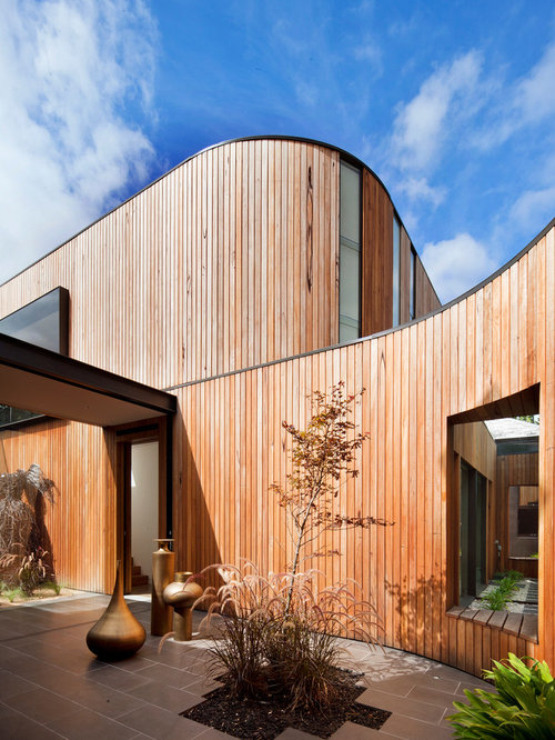 curved exterior wall houzz